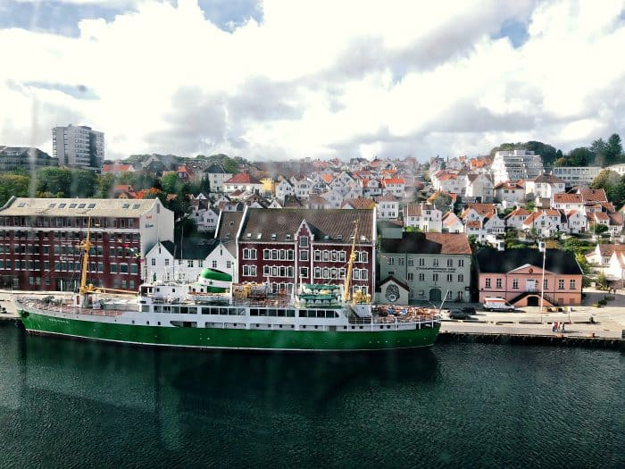 Homelands Viking Cruise Excursions Norway - green ship