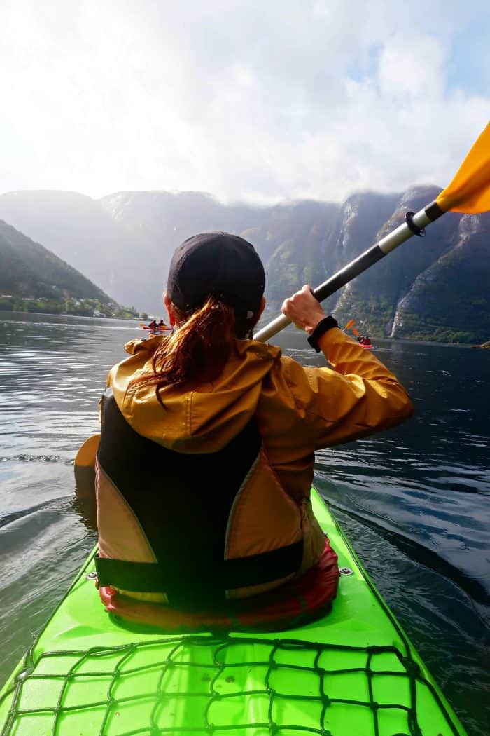 Homelands Viking Cruise Excursions Norway - sandy kayak
