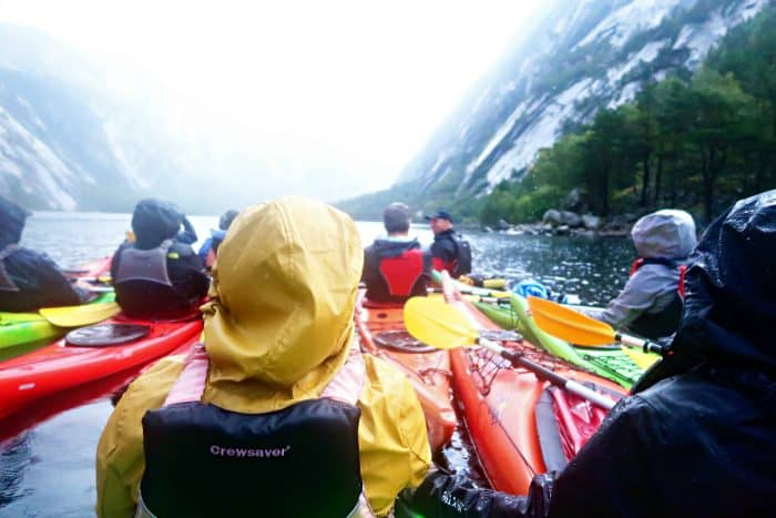 Homelands Viking Cruise Excursions Norway - people kayaking