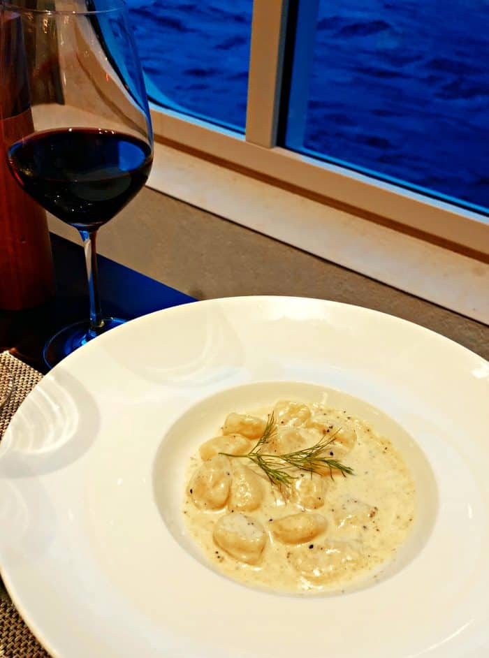 Homelands Viking Cruise Excursions Norway - gnocchi dinner on ship