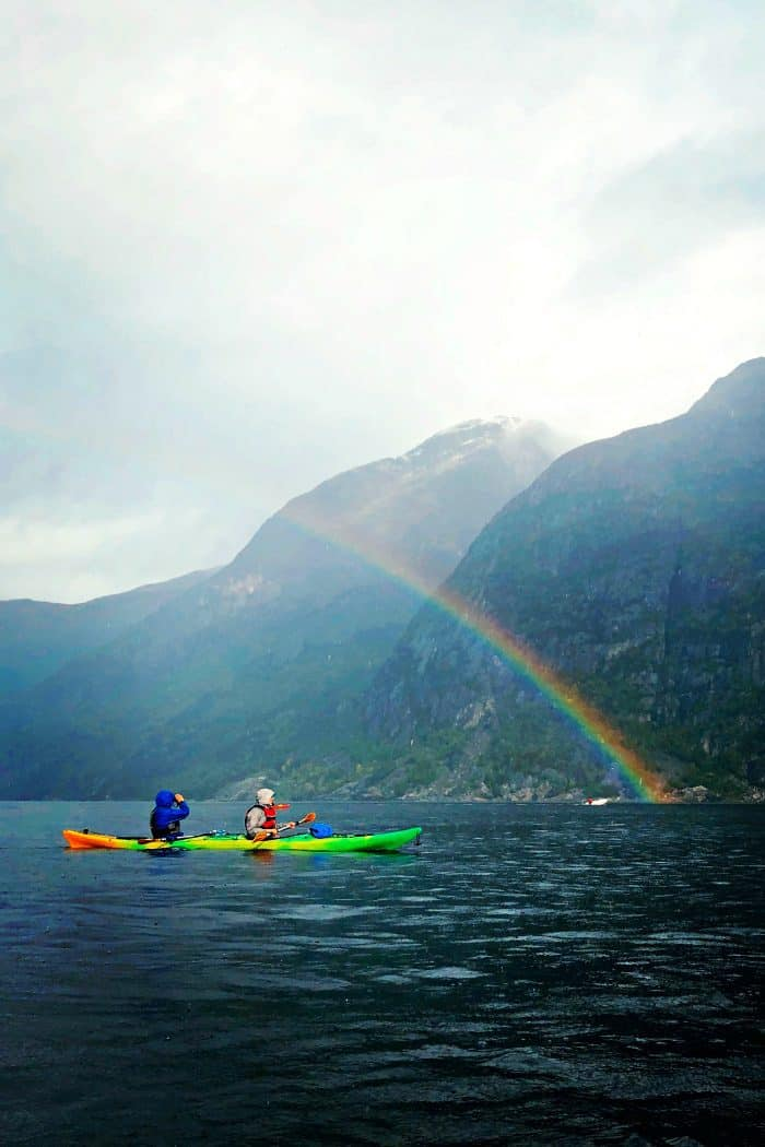 Homelands Viking Cruise Excursions Norway - rainbow kayak