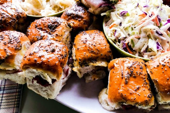 Trader Joe's Cheesy Irish Sliders with slaw