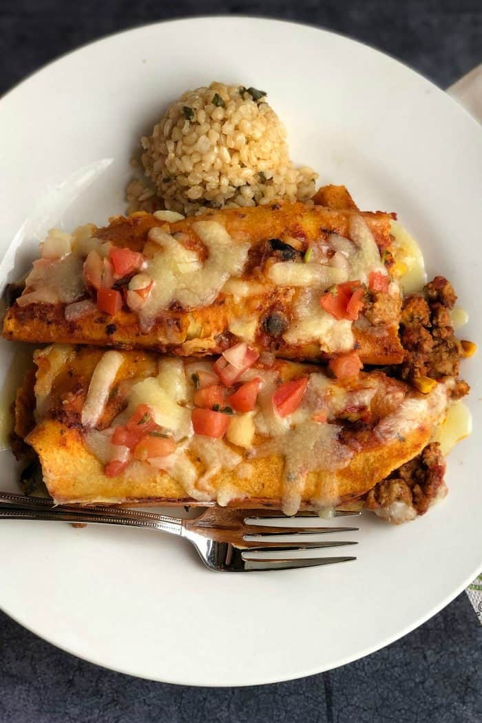 Easy Trader Joe's Red Sauce Enchiladas