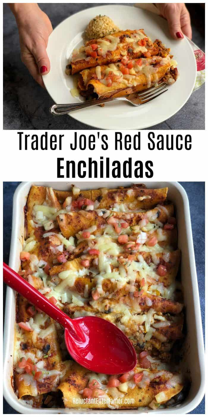 Trader Joe's Red Sauce Enchiladas Recipe