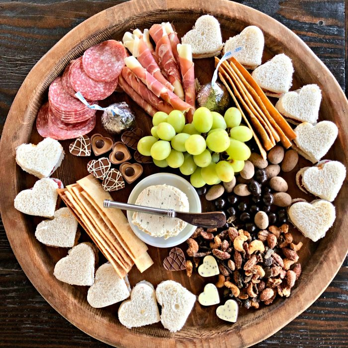 Easy Valentine's Day Lunch Charcuterie Board