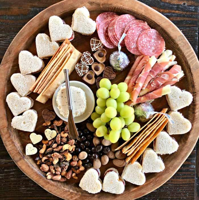Tasty Valentine's Day Lunch Charcuterie Board