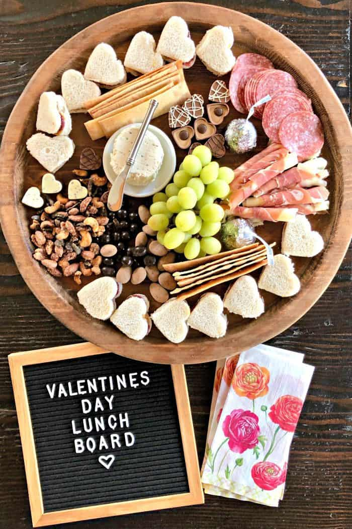 Valentine's Day Lunch Charcuterie Board