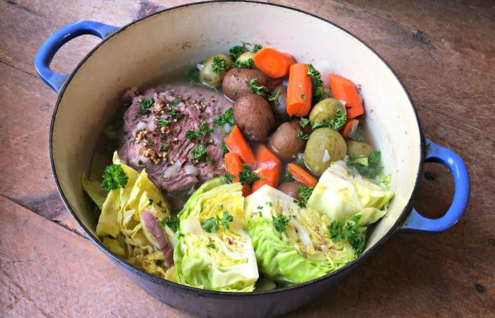Stovetop BEST Corned Beef and Cabbage Recipe