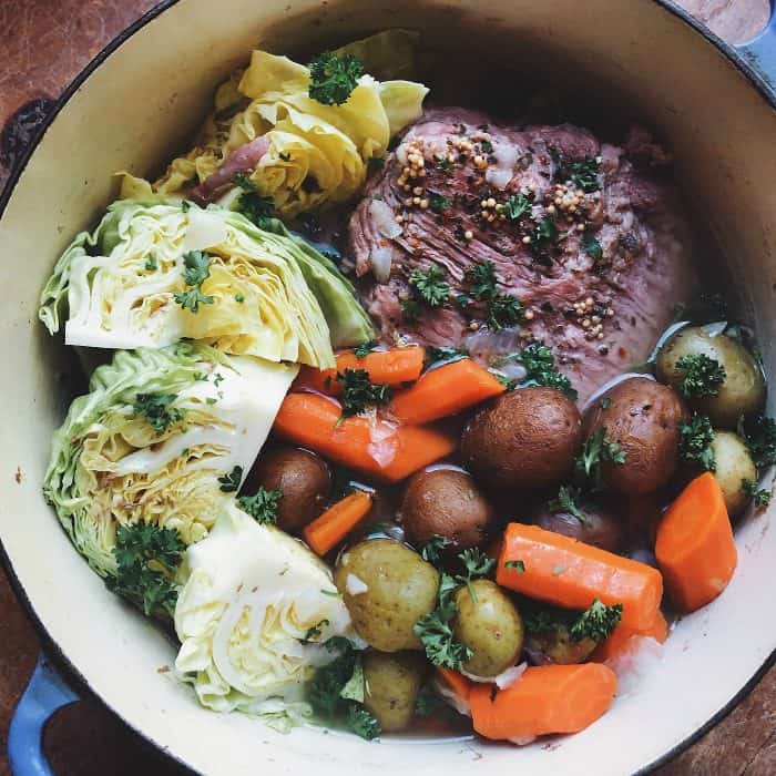 Stovetop BEST Corned Beef and Cabbage