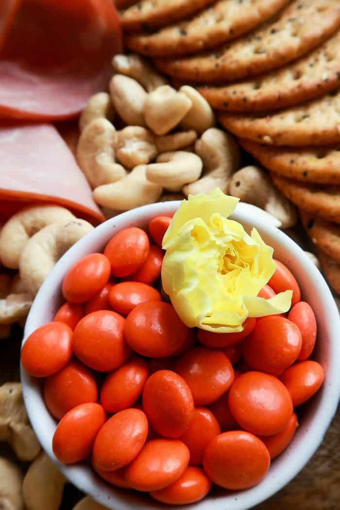 Epic Spring Charcuterie Board - Reeses candy