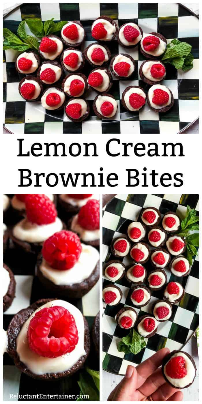 Lemon Cream Brownie Bites Recipe