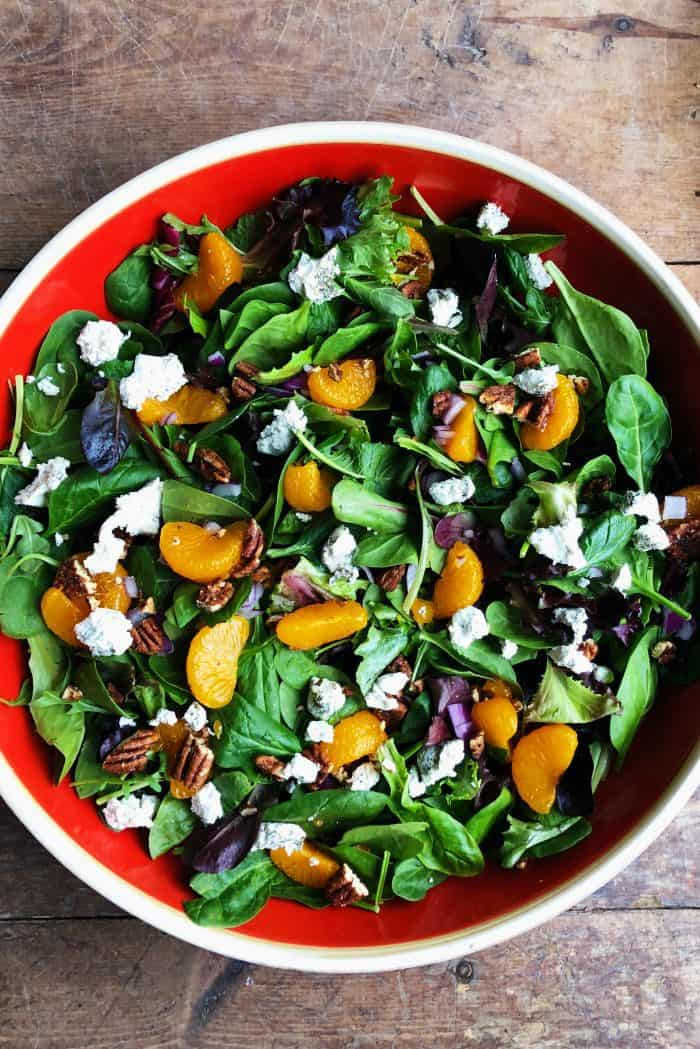 Tasty Mandarin Mixed Green Salad Recipe