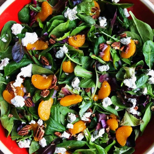 Mandarin Mixed Greens Salad Recipe