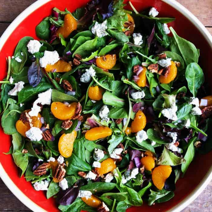 BEST Mandarin Mixed Green Salad Recipe