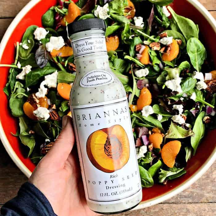 Mandarin Mixed Green Salad Recipe - dressing