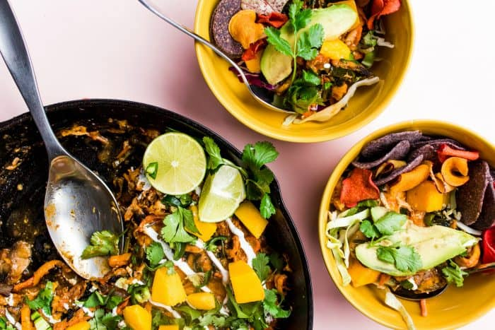 Skillet Veggie Chicken Enchilada Melt Bowl Recipe