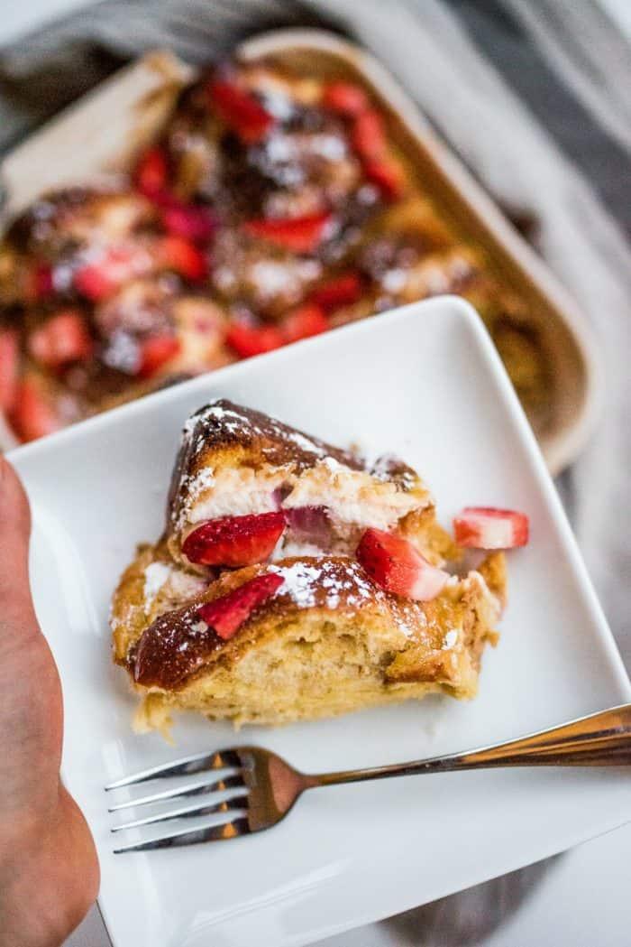 Best Strawberry Lemon Ricotta French Toast