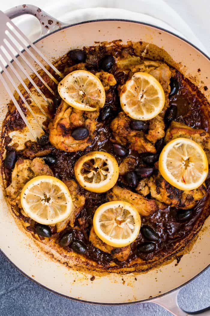 Baked Lemon Chicken and Olives