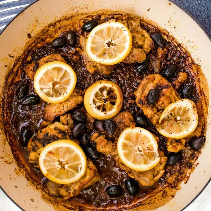 Baked Lemon Chicken and Olives DISH