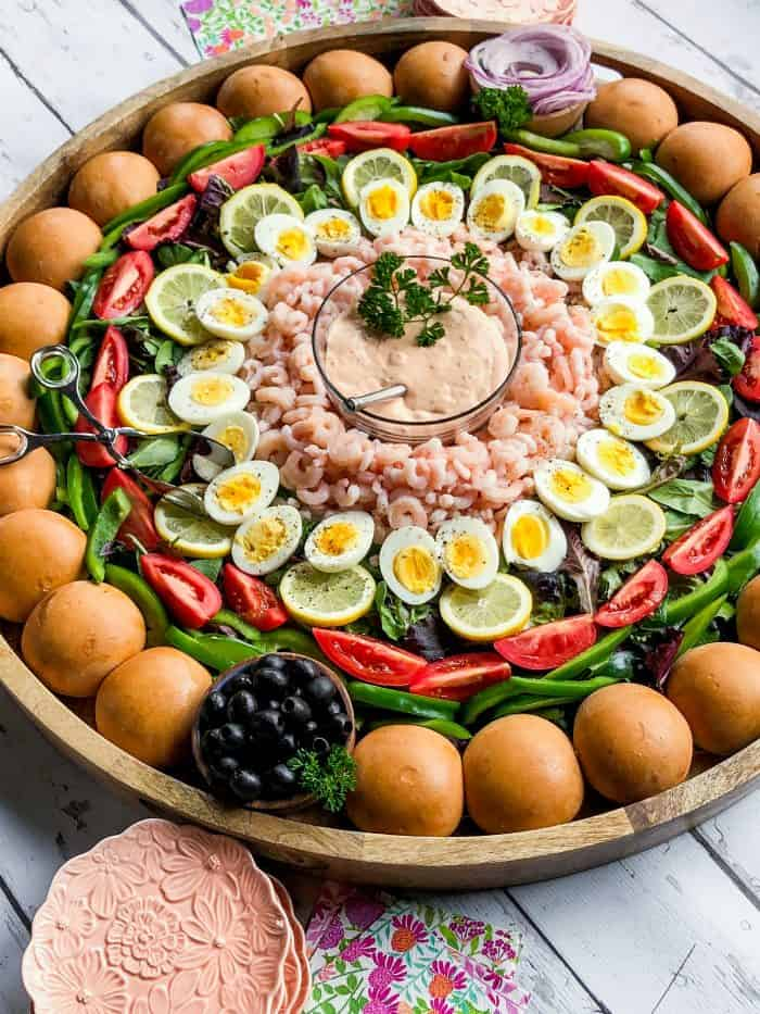 Easter Shrimp Louis Salad Board
