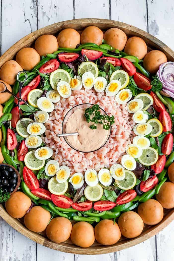 EPIC Shrimp Louis Salad Board