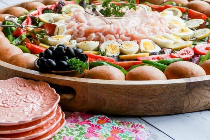 Easter EPIC Shrimp Louis Salad Board