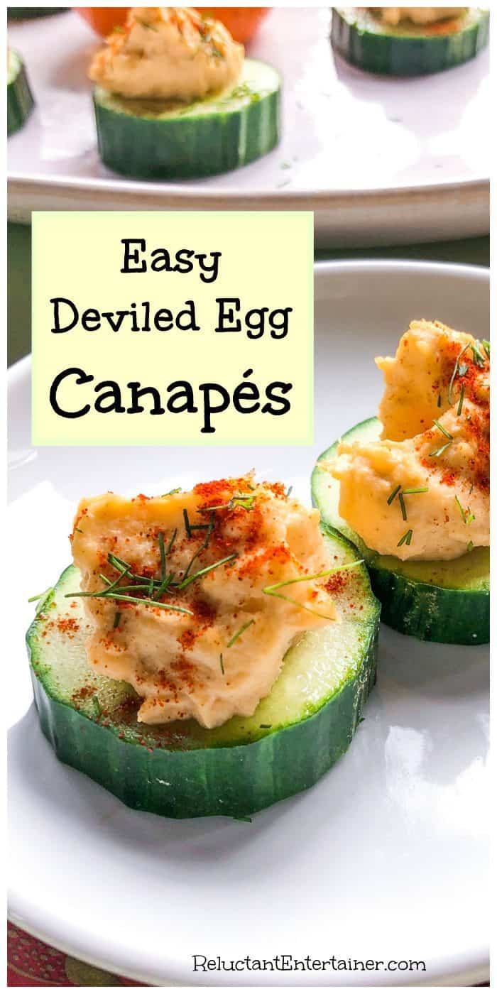 Easy Deviled Egg Canapés Recipe