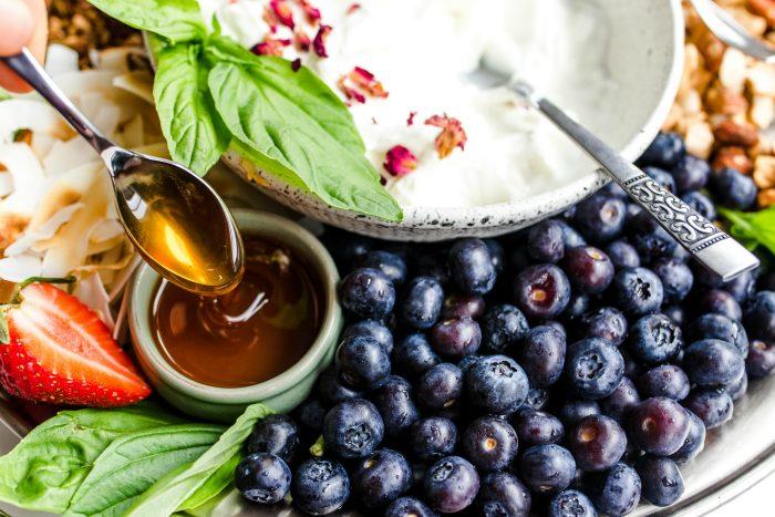 Fresh Fruit Yogurt Platter Recipe