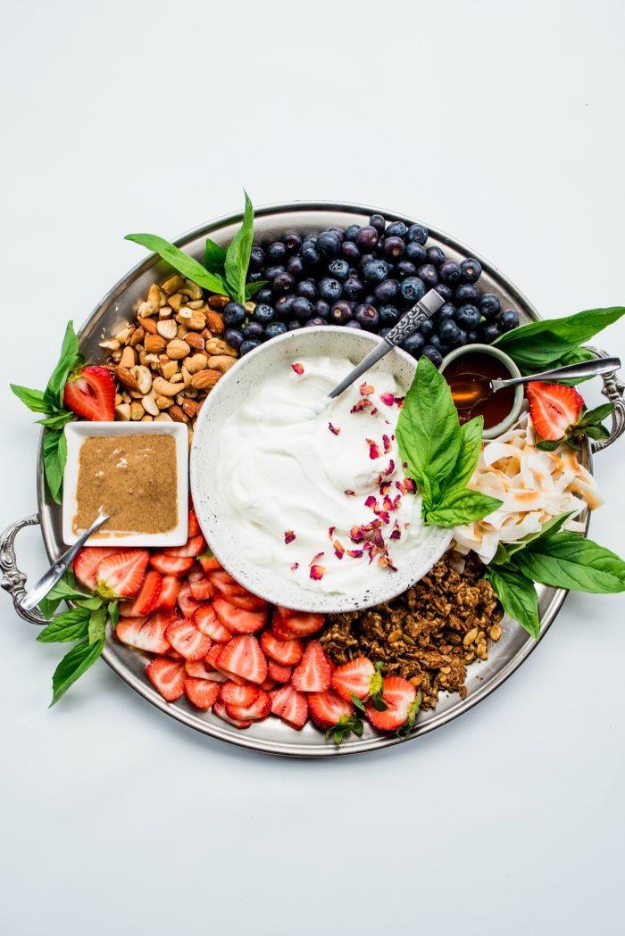 Easy Fresh Fruit Yogurt Platter
