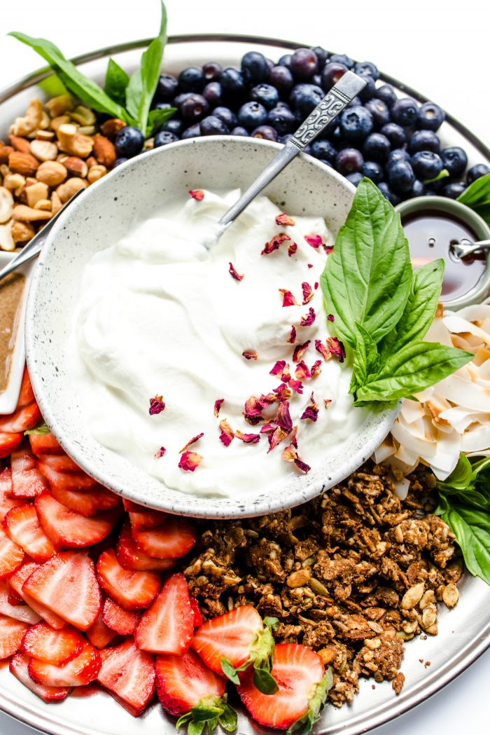 Fruit Yogurt Platter Recipe