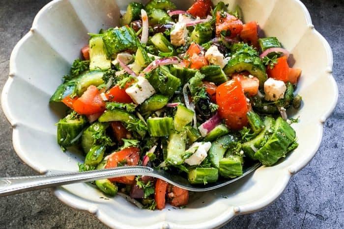 Easy Greek Peasant Salad Recipe