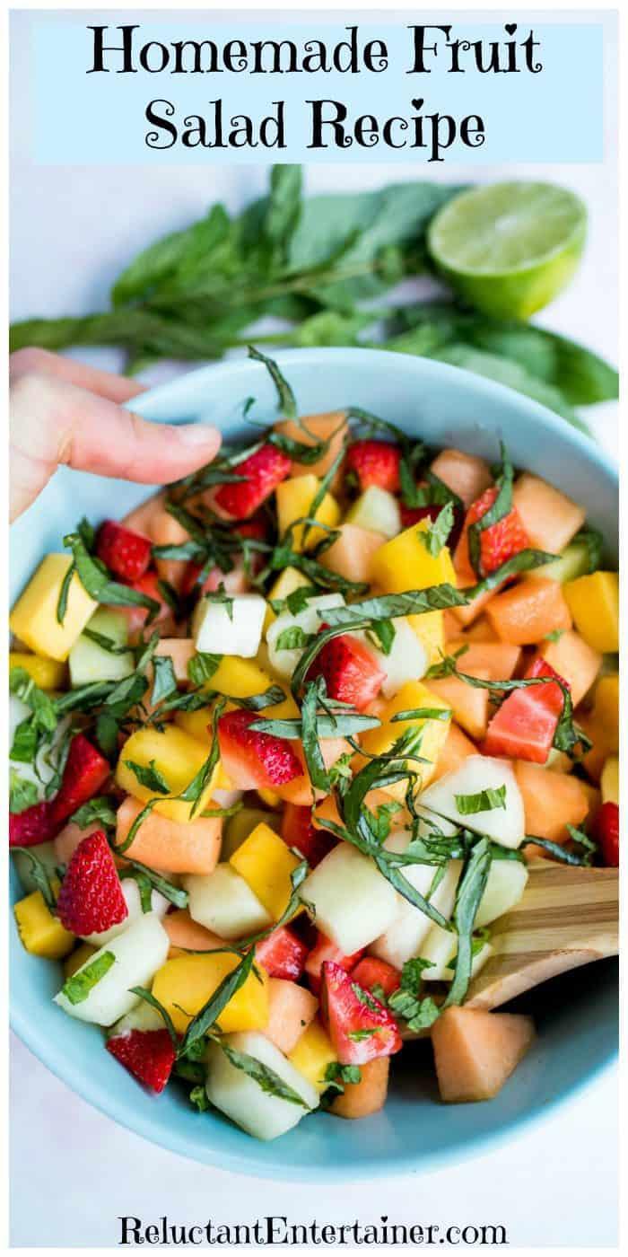 Homemade Fruit Salad Recipe