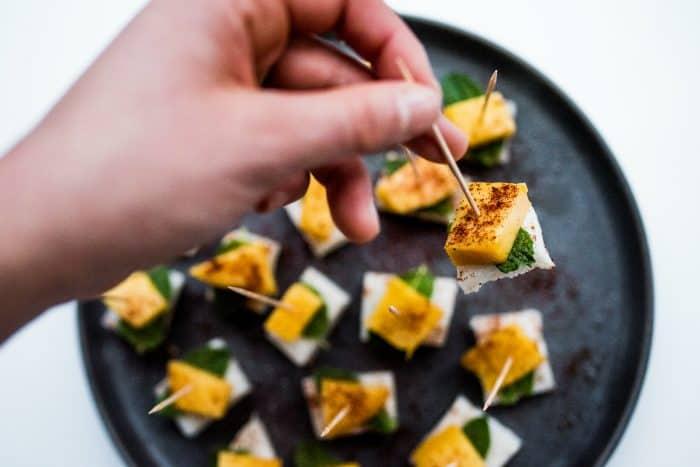 Jicama Mint Mango Appetizer