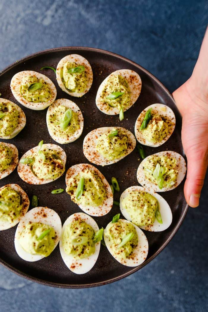 Tasty Lime Guacamole Deviled Eggs