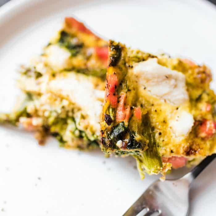 Easy Salmon Asparagus Dill Casserole