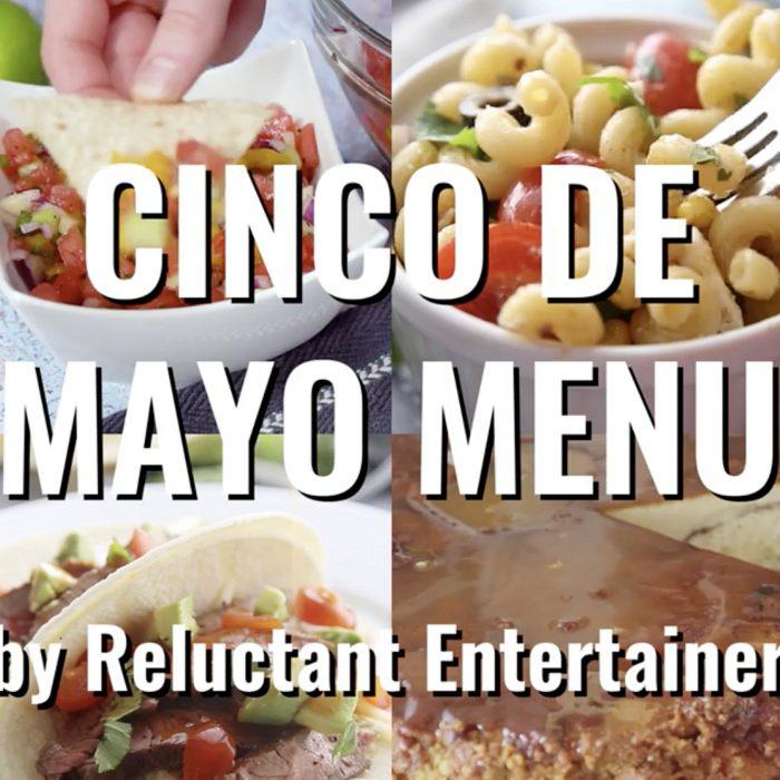 Easy Cinco de Mayo MENU #cincodemayo #mexicanfeast #menu #cincodemayomenu