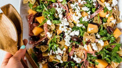 Melon Bowtie Pasta Salad Recipe