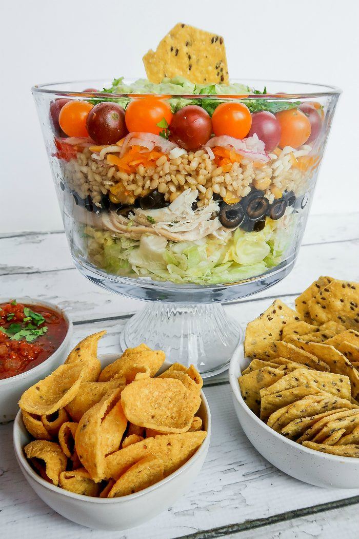 Easy Chicken Rice Layered Salad
