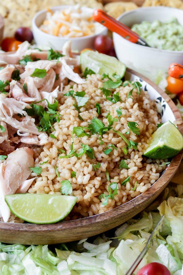 Chicken Taco Bowl Board Recipe