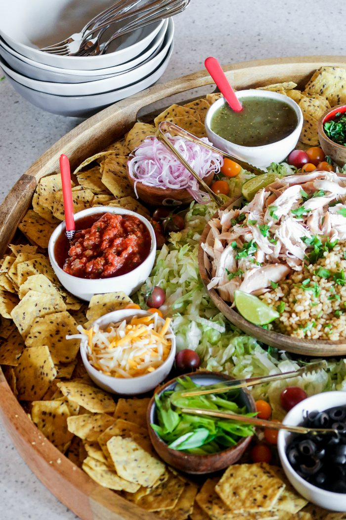 Cooking for a crowd: Chicken Taco Bowl Board