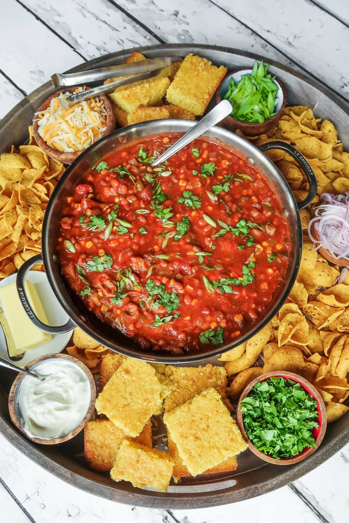 Easy Chili Dinner Board Recipe