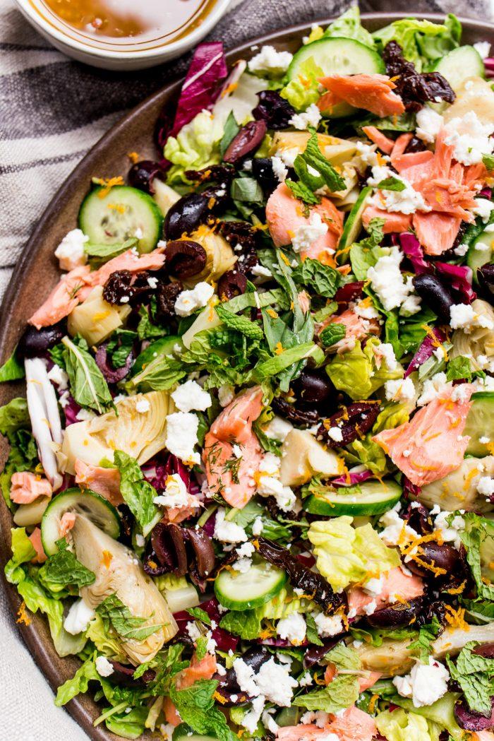 Easy Mediterranean Salmon Salad