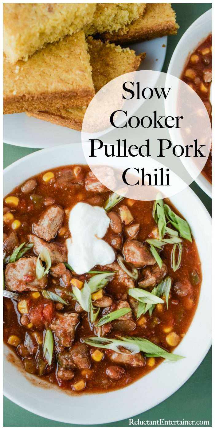 Slow Cooker Pulled Pork Chili Recipe
