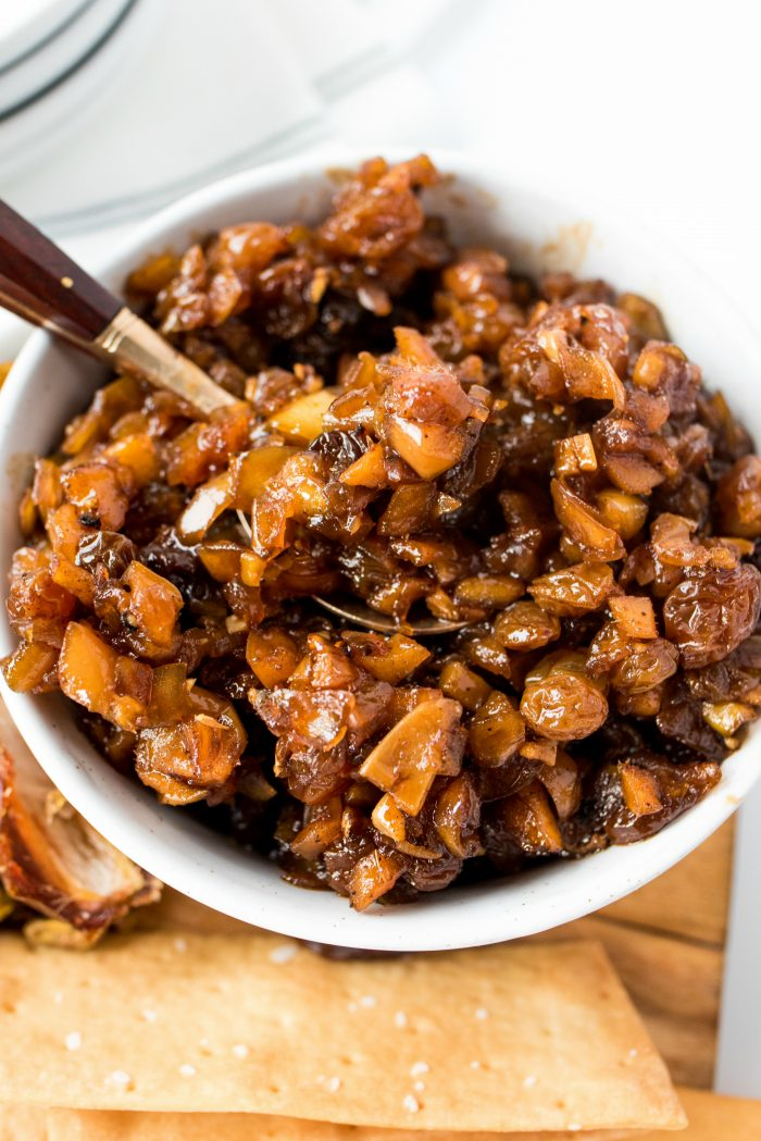 BEST Apple Raisin Chutney Recipe