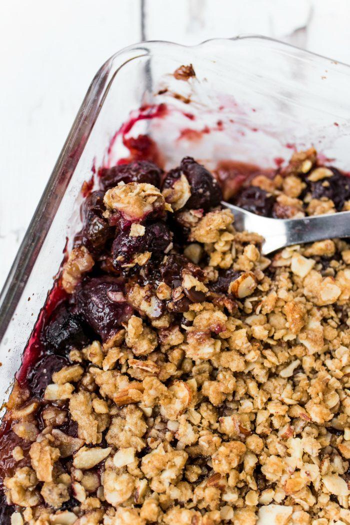 best Cherries and Chocolate Almond Crisp recipe