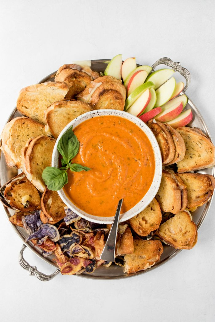 Easy Grilled Cheese Tomato Soup Board