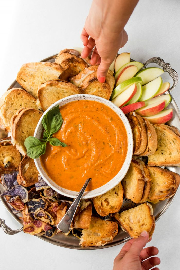 Grilled Cheese Tomato Soup Board