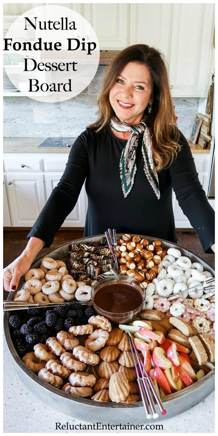 Nutella Fondue Dip Dessert Board Recipe