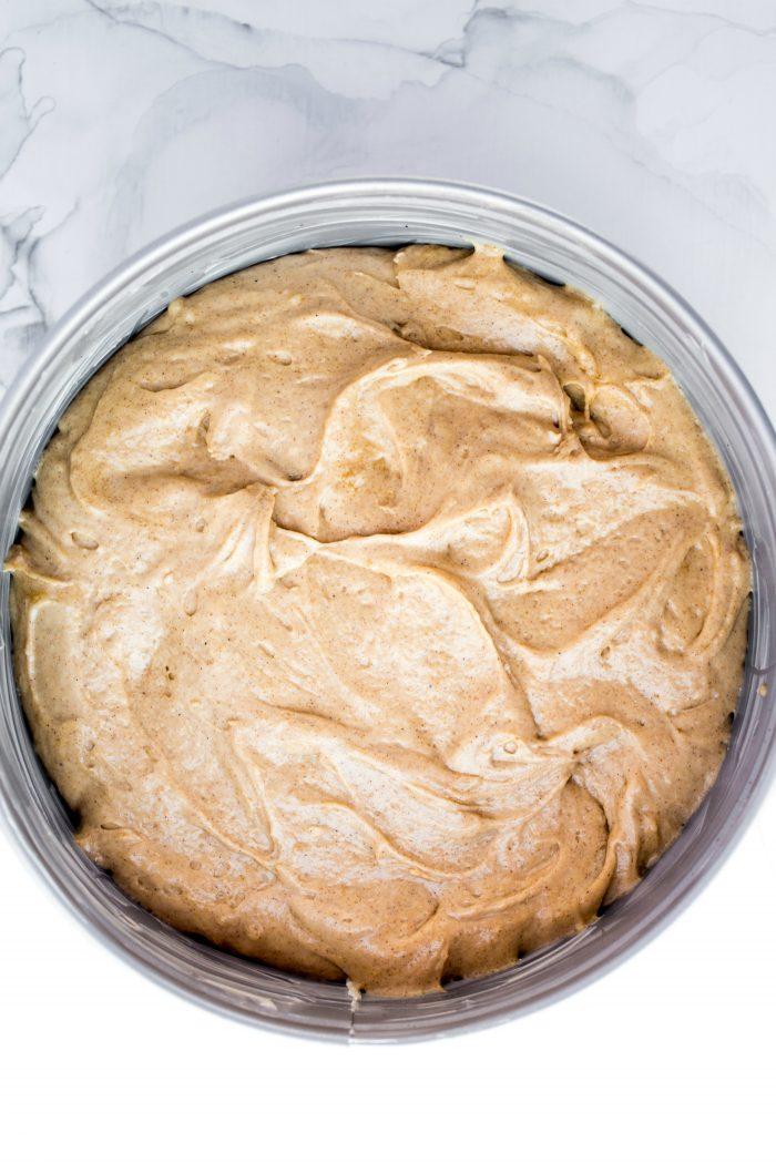 BEST Pear Coffee Cake Recipe - batter