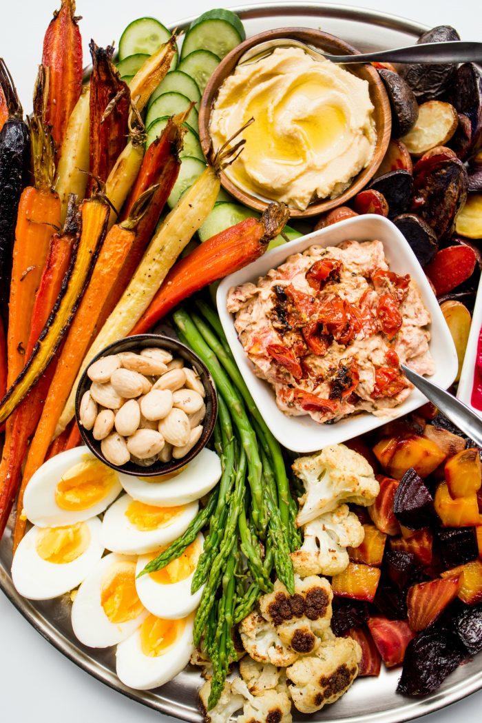 Roasted Veggie Crudite Platter